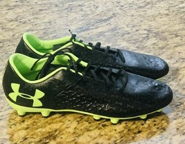 Under Armour Men's Magnetico Premiere Soccer, Size 11.5 Black/Green, 3000113-002 - $38.49