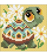 Diamond Painting Kit, Riolis Turtle, full square 10x10cm, US, 4x4  - $13.99