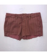 American Eagle Women's Size 0 Pink Brown Striped Shorts - $14.83