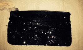 NWT Victoria's Secret Black Sequin Clutch Purse Bag - $12.21