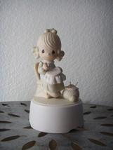 1981 Precious Moments MOTHER SEW DEAR Porcelain Musical Figurine Sculptu... - $9.95