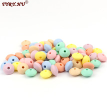 500pc Silicone Lentil Beads Baby Teething Bead Teether Safe Toys Necklac... - $98.74