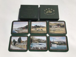 Set Of 6 Jason Coasters Uniquely New Zealand Leading By Design Drink Bar - $21.65