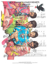 Art N Wordz The Beatles SGT Pepper World Upcycled Music Sheet Pop Art Print - $21.00