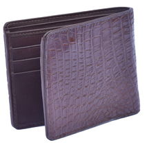 Astute Don Juan Brown Multi Card Slots Genuine Crocodile Leather Men Wallet - $179.99