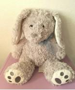 Hugfun Grey Bunny Rabbit Grey Swirly Fur Plush Stuffed Animal Sitting Lo... - $33.17