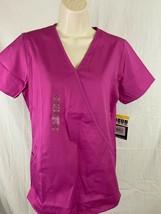 wonder Wink Scrubs Womens Size Small Short Sleeve Fuscia Pink New - £8.63 GBP