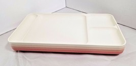 Tupperware Divided TV Dinner Lunch Tray Dusty Rose Pink Almond Cream Set... - €27,49 EUR