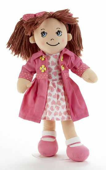 "Primary image for Adorable Apple Dumplin' Cloth 14"" Doll by Delton - Pink Heart Doll"