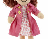 "Adorable Apple Dumplin' Cloth 14"" Doll by Delton - Pink Heart Doll"