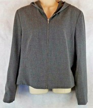 Ann Taylor Charcoal Gray Hooded Jacket Size 12 w/ Zip Up Front  - $19.75