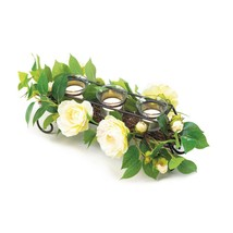 #10018007 *White Faux Floral Candle Holder Centerpiece* - $39.88