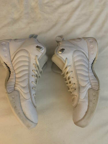 Nike Mens White Leather Jumpman Pro Shoes SNEAKERS White 906876-100 Sz 9