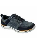 Skechers shoes Men's Blue Memory Foam Casual Canvas Suede Comfort sneake... - $49.99
