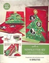 Hallmark Newsletter Set Christmas Theme 18 Newsletters w Cards Envelopes  - $10.73