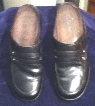 Clarks Black Leather Slip-ons/Clogs w/ Double Cross StrapsSize: 9.5 - $21.29