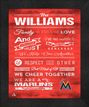 "Miami Marlins ""Family Cheer"" 13 x 16 Framed Print - $39.95"