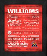 "Miami Marlins ""Family Cheer"" 13 x 16 Framed Print - $39.95"
