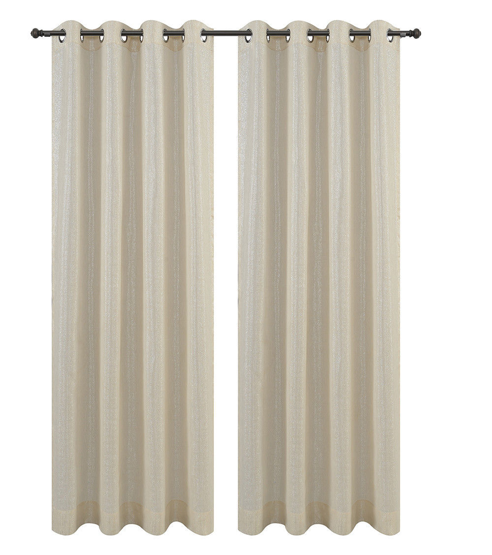 Urbanest Cosmo Set of 2 Sheer Curtain Panels w/ Grommets