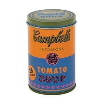 Mudpuppy Andy Warhol Soup Can Crayons, Orange, Includes 18 Crayons Inspired by I