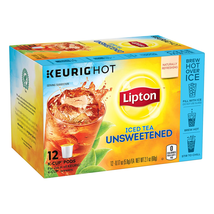 Lipton Iced Tea K-Cups for Keurig Brewers Unsweetened Sugar Free 12 pods 6 count - $61.99