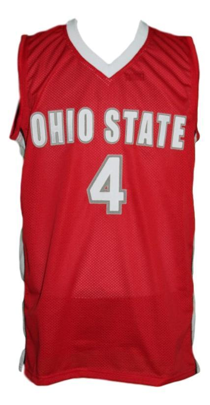 Aaron craft  4 custom college basketball jersey red   1