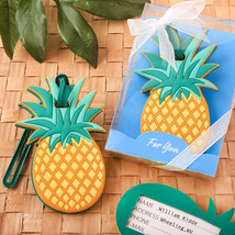 40 Pineapple Luggage Tag Wedding favors Bridal Shower Favor Beach Theme - $61.80