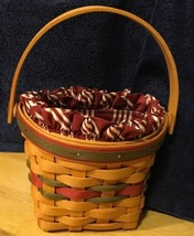 Longaberger Christmas 1999 Little Joy Basket Combo - $37.39