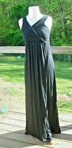 Liz Lange Maternity Nursing Friendly Maxi Dress Size S/P  Deep Black Color - $19.59