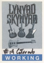 Lynyrd Skynyrd 1998 Tour Catering Backstage Pass! - $9.89