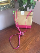 New Coach Crossbody Bag North South Leather Swingpack 51557 Camel Pink B9 - $89.09