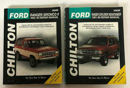 VTG Chilton Ford Ranger Bronco II ETC Two Repair Manuals 1983-1990 1991-1999  - $19.80