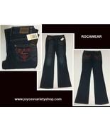 Rocawear Women's Jeans Sz 7 (28 x 32) Flare Embroidered NWT Dark Wash - $21.99