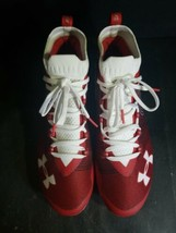 Under Armour Sportlight Red White Lacrosse Cleats Size: 9.5 3020675-600 Men - $49.49