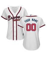 Women Atlanta Braves Custom Name & number Cool Base Baseball Jersey - $45.90