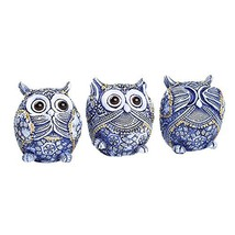 FAMICOZY Owl Figurine with Different Gestures,Cute Owl Statue,Adorable D... - $17.21
