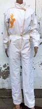VdeV Ski Suit One Piece Size S Women's White Snowsuit 80s France Snowboa... - $151.26