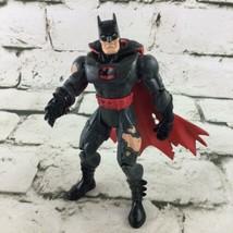 Vintage Kenner Batman Figure 1998 Power Kick Black Red Flaw - $17.82