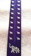 elephant sign screenprinted purple long insence holder ideal for sticks or cones