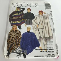 McCalls Sewing Pattern 5080 Cocoon Jacket Capelet Poncho Cover-Ups Size ... - $11.99