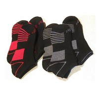 AND1 Men Low Cut Socks Black Red Athletic Ankle Cushion Women Performanc... - $19.79
