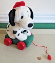 Disney Store 101 Dalmatian Musical Christmas Plush Pull Toy 2000 - $8.42