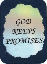 "God Keeps Promises 3"" x 4"" Love Note Inspirational Sayings Pocket Card, Greeting - $2.69"