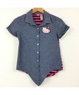 Hello Kitty Shirt Blue/Pink Girl Size XL 14/16 - $10.70