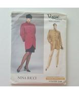 Vogue Paris Original 2149 Jacket Skirt Pants Sewing Pattern Nina Ricci S... - $10.88