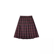 Knee Length Pleated Plaid Skirt Women Plus Size Navy Black Pleated PLAID SKIRTS image 13