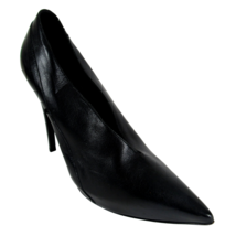 Burberry 39.5 Heels Womens Black Leather Pointy Toe Stiletto Shoes - $102.96