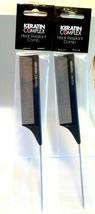 Keratin Complex Heat Resistant Metal Tail Comb - NEW - Pack of 2, KC9502... - $12.95