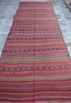 HR, 4'5 x 11'8 Vintage Afghan Nomad Kilim Tribal Persian wool Antique Ru... - $395.10