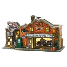 Department 56 Halloween ・ Snow ・ Village Series Harley ・ Davidson Garage... - £314.66 GBP